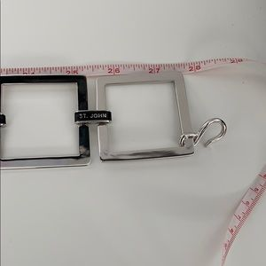 St. John Accessories - New silver squares belt from St. John
